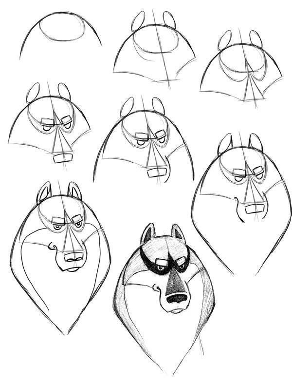 Рисунки простым карандашом поэтапно