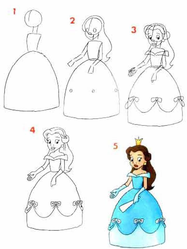 Как сделать нарисовать принцессу